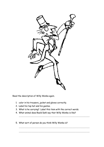Willy Wonka description