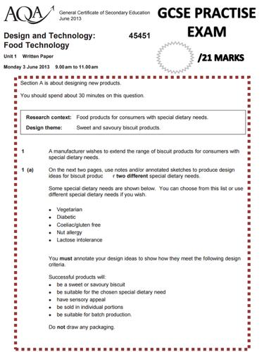 GCSE FOOD DESIGN SECTION REVISION PART 2