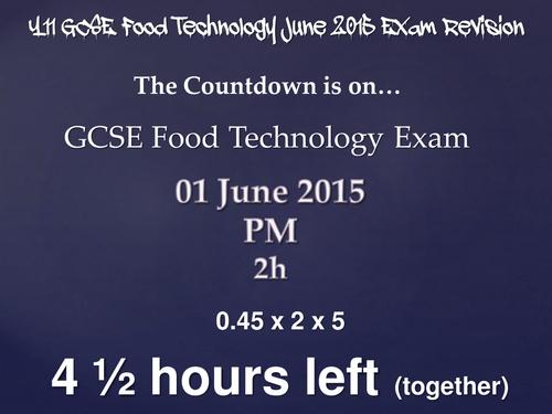 GCSE FOOD DESIGN SECTION REVISION PART 1