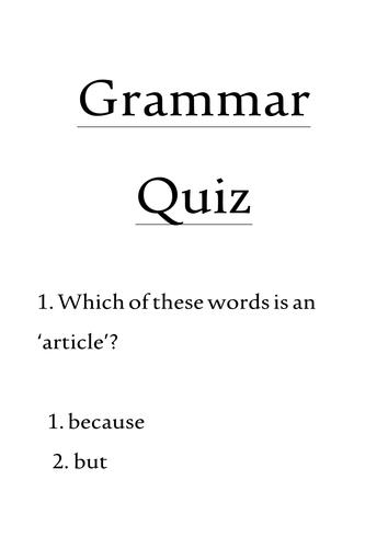 Grammar Vocabulary Quiz by megaalex66 - Teaching Resources - Tes