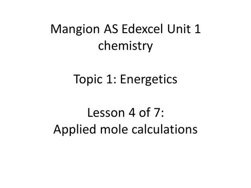 Molar gas volume lesson - AS Chemistry