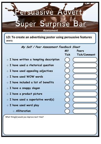Chocolate Bar Advertisements Tes