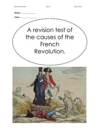 Causes of the French Revolution Revision test