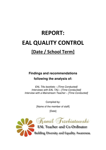 EAL Quality Assurance System for Mainstream Schools