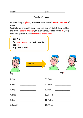 Plurals Worksheet Ks2 - plurals worksheets 2nd grade and beansmith.co