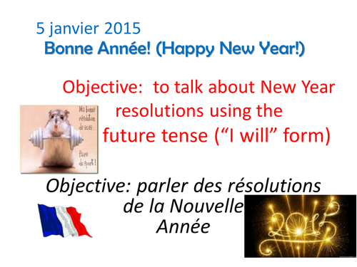 "The Future tense ""I will"" and New Year Resolutions"