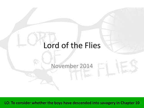 Lord Of The Flies Chapter 10 By Lfernback Teaching Resources Tes