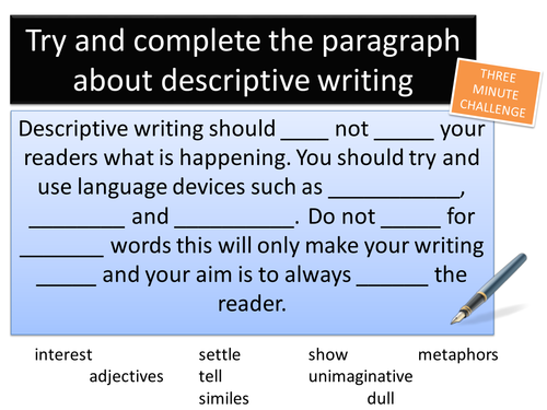 Descriptive Writing - View from Space