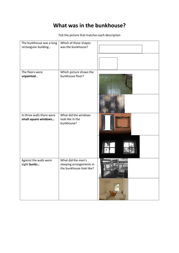 diagram of bunkhouse bunkhouse description of mice and men for eal teaching resources  bunkhouse description of mice and men
