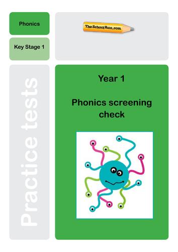13 mock phonics screening check materials