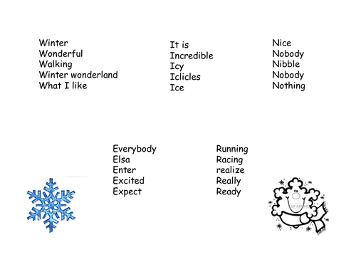 Winter Acrostic Poem Words By Nickisun Teaching Resources Tes