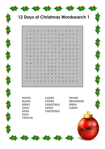 christmas ks1 wordsearch by uk teaching resources tes. Black Bedroom Furniture Sets. Home Design Ideas
