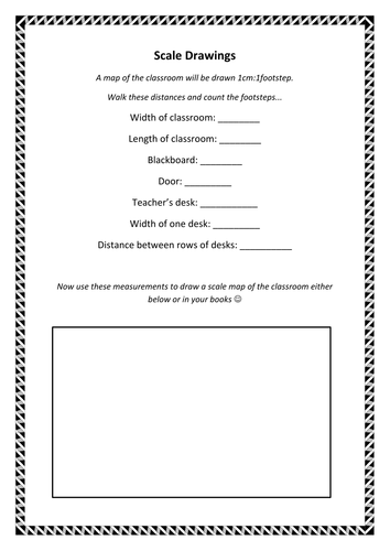 Drawing to Scale - Introduction Activity