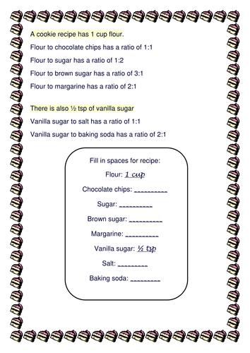 Ratio Recipe! - introduction activity