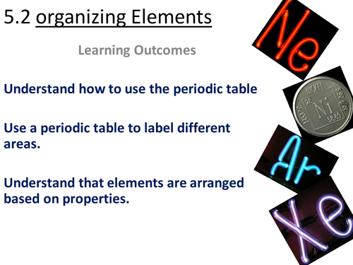 Science Works 2 Organizing Elements