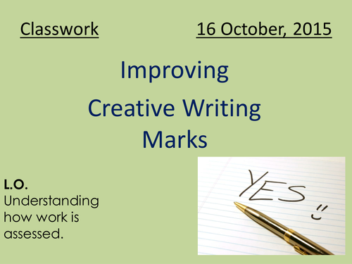 Improving creative writing