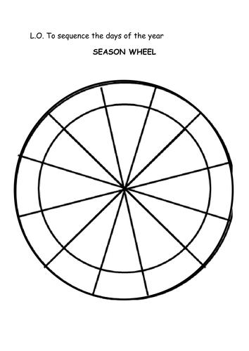 Blank Liturgical Calendar Wheel : Seasons wheel by jodiec teaching resources tes