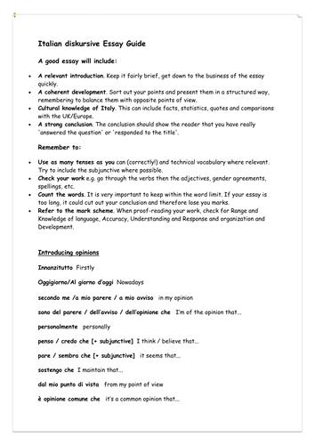 Discursive Essay please help?