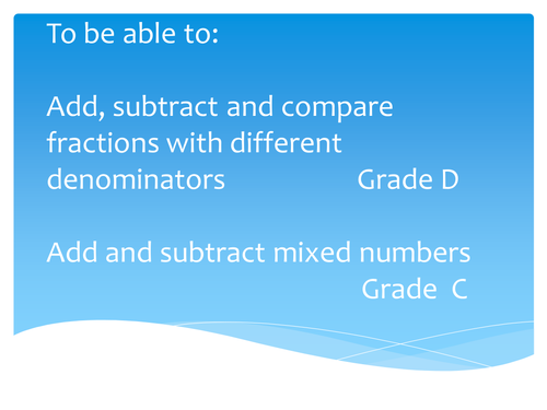Adding and Subtracting mixed numbers by Anon12441088846113016 ...