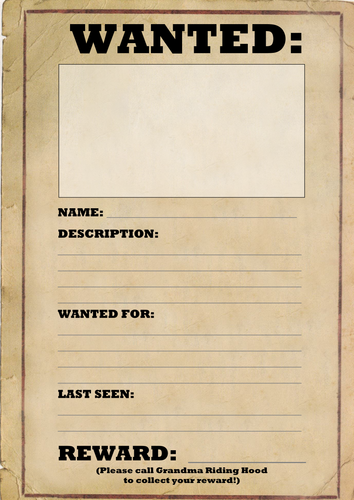 Wanted Poster Template by joeroberts89 - Teaching ...