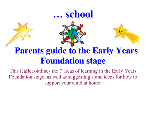 2012 EYFS parents' guide - 6 weeks in