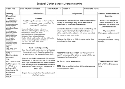 Romeo And Juliet Oxymorons By Kathrynmc77 Teaching Resources Tes