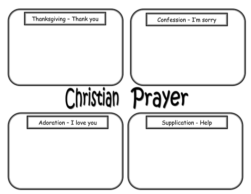 Write a prayer worksheet