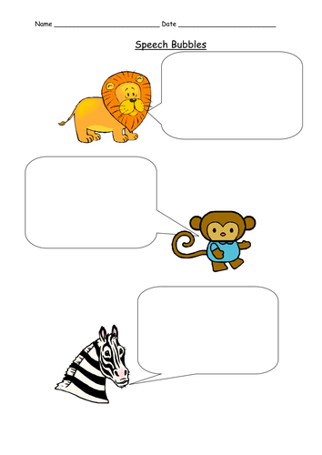 speech bubble worksheet for la special needs by jopickersgill uk teaching resources tes. Black Bedroom Furniture Sets. Home Design Ideas