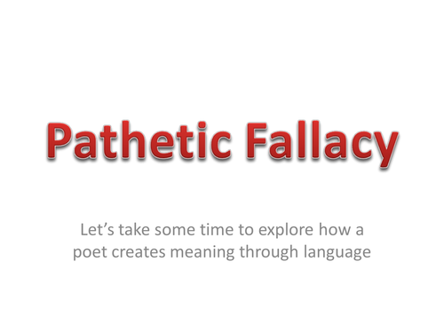 Using Pathetic Fallacy By Jay2rg Teaching Resources Tes