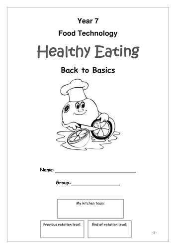 Year 7 Food Technology Booklet