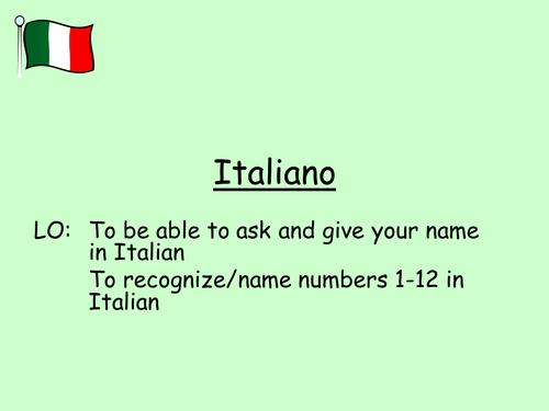 Italian greetings and numbers 1-12 / I numeri