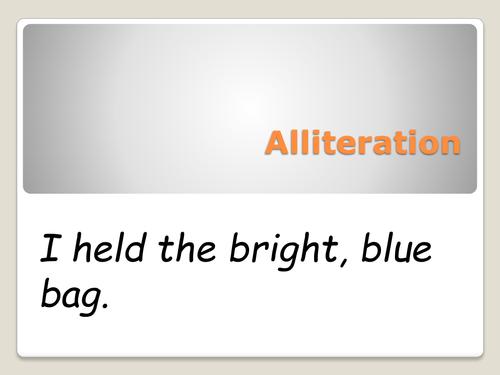 Alliteration By Sarbon Teaching Resources Tes