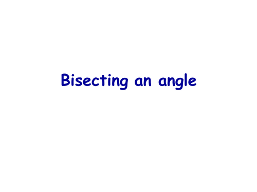 Bisect an angle and line by nikkie1971 Teaching Resources TES – Perpendicular and Angle Bisectors Worksheet