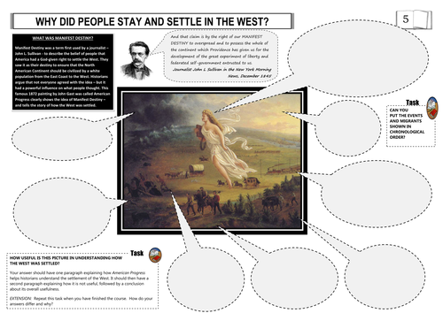 Manifest Destiny Mindmap Using American Progress By