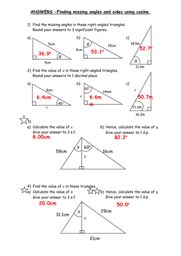 Worksheets Sine Cosine And Tangent Practice Worksheet Answers trigonometry sine cosine tangent by lou1990lou teaching resources tes