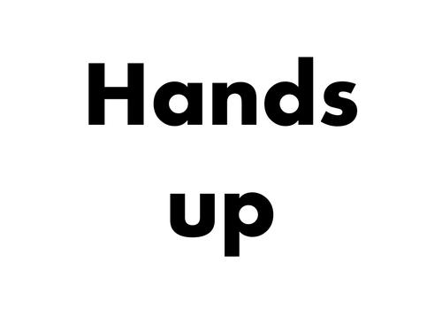 Hands Up Activity