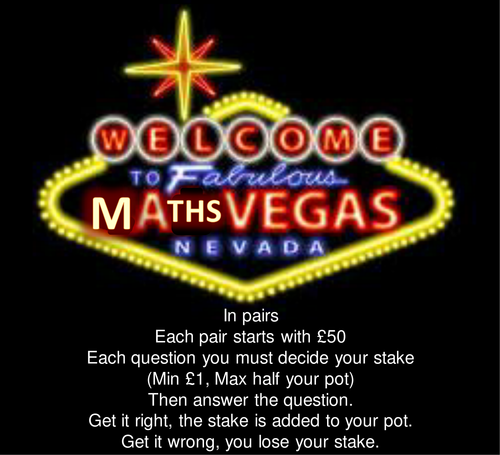 Math Vegas Revision
