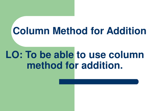 YEAR 3 COLUMN ADDITION by abegum5002 Teaching Resources TES – Column Addition Worksheets Year 3