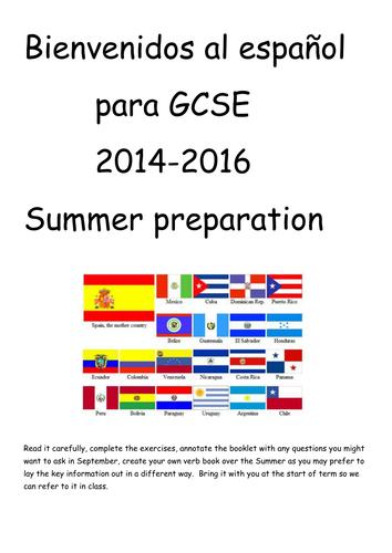 Bienvenidos al español-prep for GCSE
