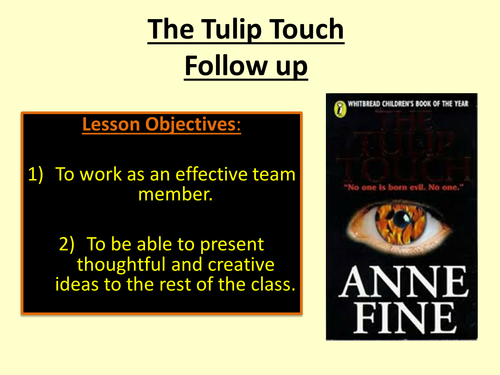 Scheme of work for The Tulip Touch