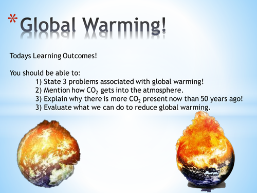 Chemical Reactions and Global Warming