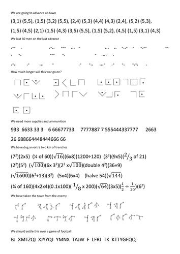 World War One Math Cross Curricular Activity By Rhansard
