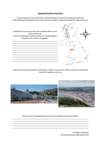 Geography Baseline Assessment
