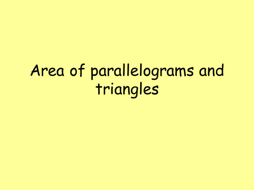 Area of triangles and parallelograms tutorial by jad518nexus ...