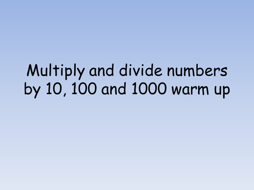 Number Names Worksheets : multiplying multiples of 10 100 and 1000 ...