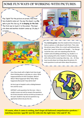 Fun ways of teaching with pictures  by andorian | Teaching