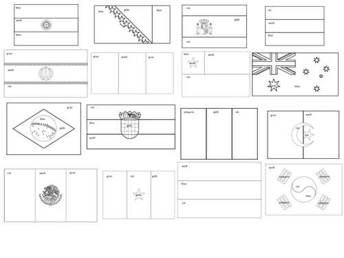 coloring pages flags world - photo#4