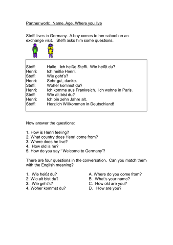 Basic Personal Information In German By Abibryan Teaching