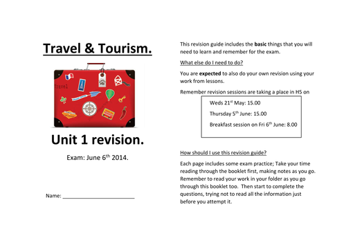 travel and tourism unit 1 m1 Btec travel and tourism unit 3: p 1 and m1 the world and its natural features to achieve m1 you need to show that you can use the atlas confidently working on.