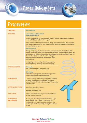 forces paper helicopters by sameena171 teaching resources tes